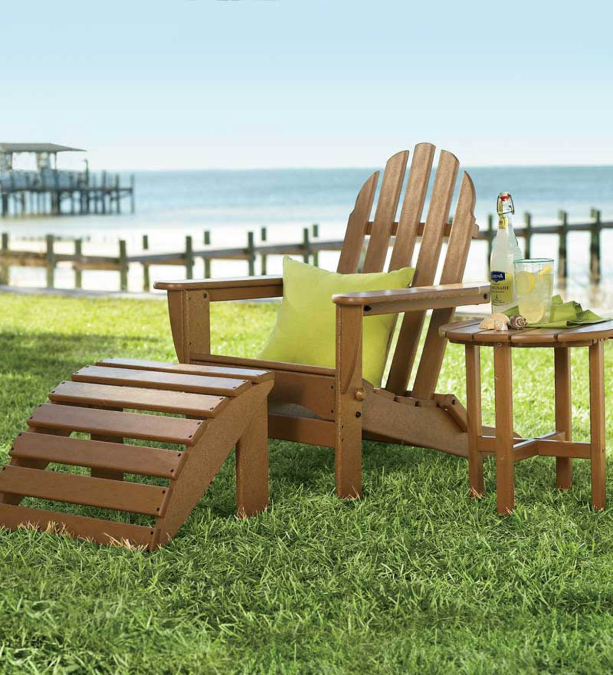 Poly-Wood™ Low-Maintenance Outdoor Adirondack Chair ...