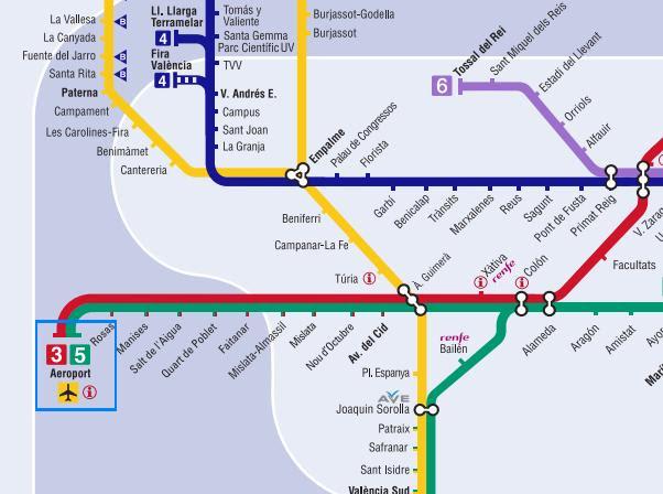 Mapa De Metro Valencia.Mapa Zonas Metro Valencia Mapa