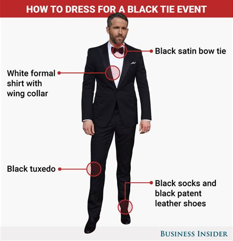 wear   black tie event business insider