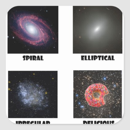 types of Galaxies3 Square Sticker
