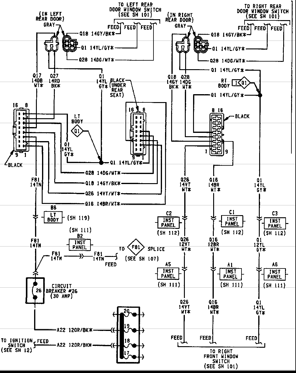 2004 Jeep Grand Cherokee Driver Door Wiring Diagram Youthhigh Power