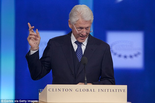A report revealed that more than half the people outside government who met Clinton while she was secretary of state donated money to the Clinton Foundation. The Foundation announced that Bill Clinton would step down from the group's board if Hillary were to be elected president
