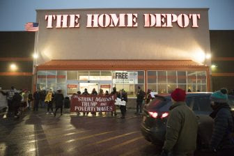 Workers rally against Trump and poverty wages at Home Depot | MSR ...