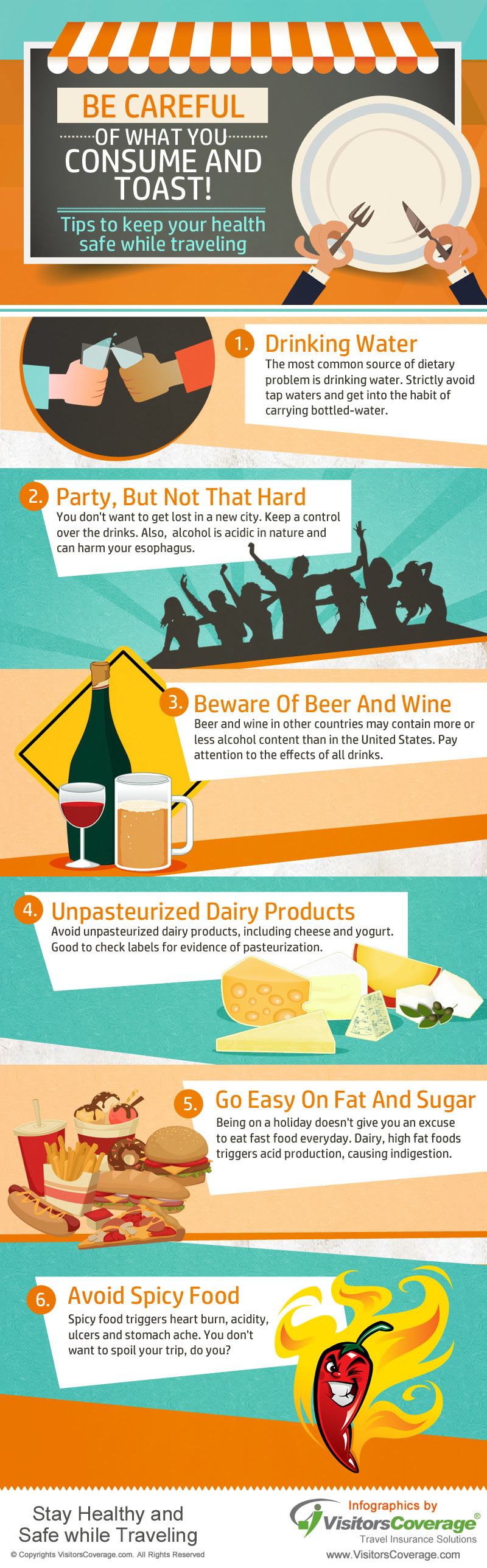 Infographic: Tips to Keep your Health Safe While Traveling #Infographic #Health #Travel