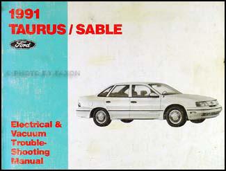 1991 Ford Taurus and Mercury Sable Wiring Diagram Original