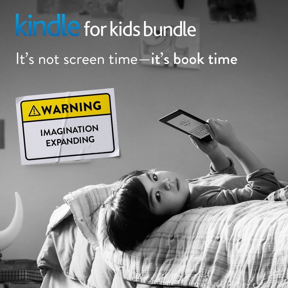 Kindle for Kids Bundle with the latest Kindle, 2-Year Accident Protection, Kid-Friendly Blue Cover