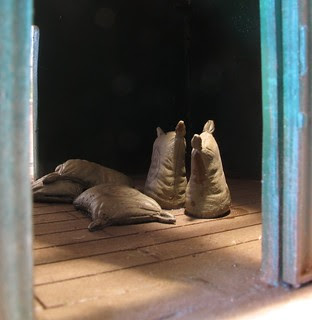 Sacks in shed