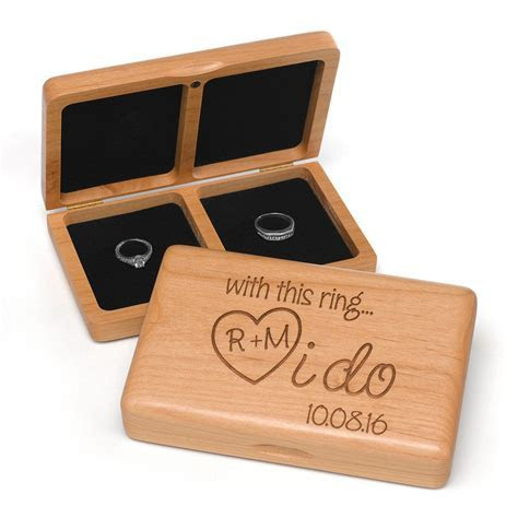 Personalized I Do Wooden Wedding Ring Box ? Candy Cake