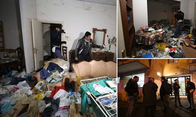 Italian police rescue woman, 36, 'kept locked in squalor by her own mother for eight years surrounded by rubbish and with no heating'