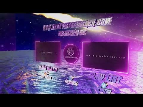 Tela Final Elemento 3D #130 Editavel Logo Tipo Designer Download Grátis Free use Templante final Tut