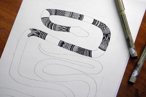 Snake-drawing