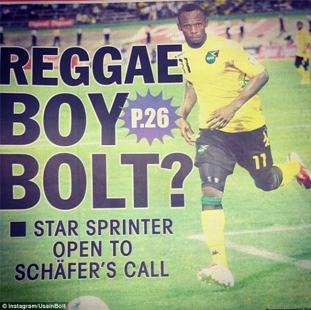Fresh start? Usain Bolt posted this photo of a story in The Jamaica Star newspaper on his Instagram account