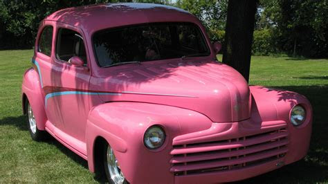 full hd wallpaper ford pink vintage coupe park united