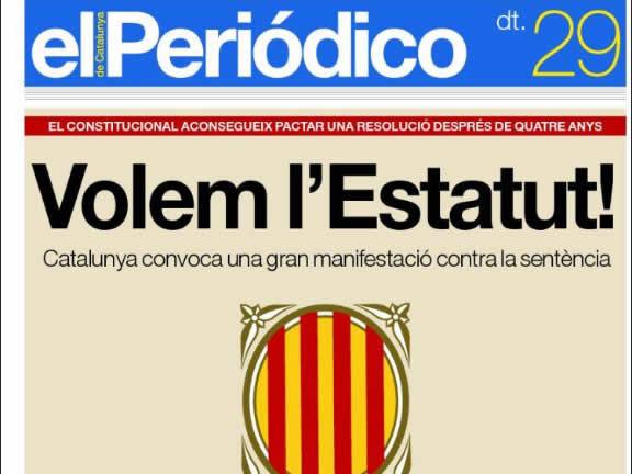 La premsa és contundent sobre la sentència, cadascú a la seva manera. (Font:kiosko.net)