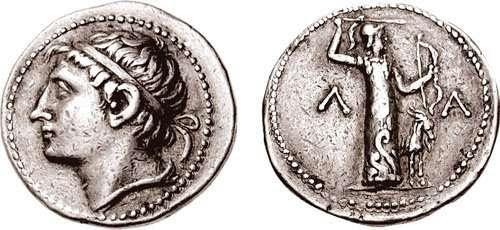 Ο Κλεομένης Γ' ήταν βασιλιάς της Σπάρτης από το 235 π.Χ μέχρι το 222 π.Χ. Αρχαίο ελληνικό νόμισμα