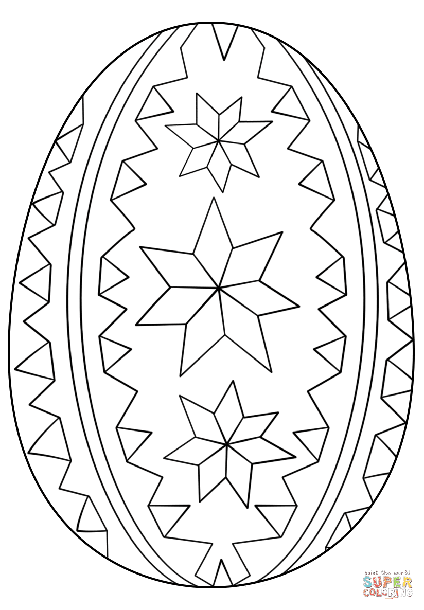 Blank Easter Egg Coloring Pages at GetDrawings   Free download