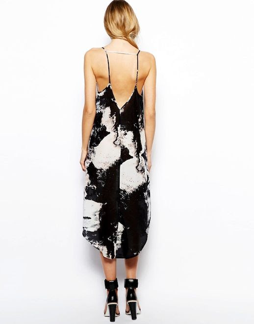 Le Fashion Blog Gimme Gimme Marble Print Dress Back Sleeveless Open Back Strappy Midi Dress Aryn K Printed Silk Maxi Dress with Uneven Hem ASOS White Wisdom Leather High Sandal photo Le-Fashion-Blog-Gimme-Gimme-Marble-Print-Dress-Back-3.jpg