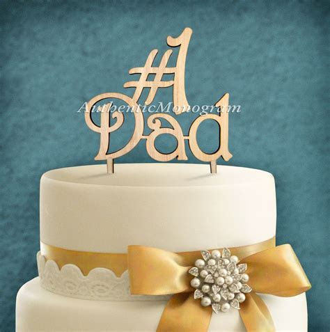 6 Inch Wooden Number One Dad Father's Day Cake
