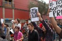 La protesta de los estudiantes rumbo a la ALDF. Foto: Miguel Dimayuga