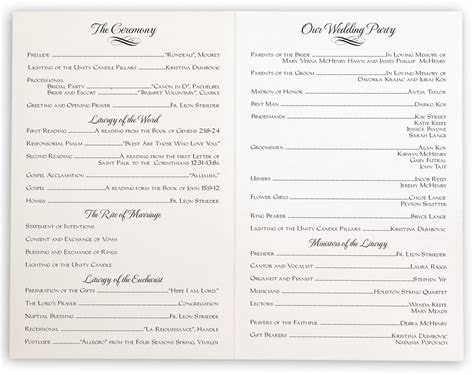 Linked Hearts Wedding Programs, Wedding Ceremony Programs
