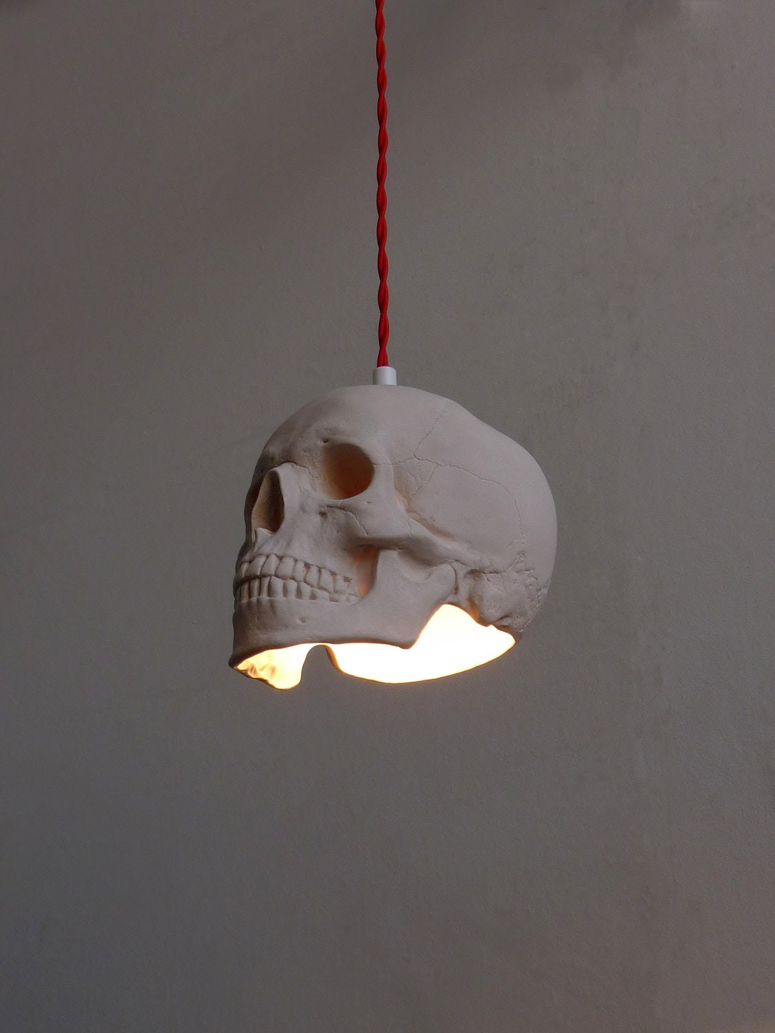 Skull Pendant Light
