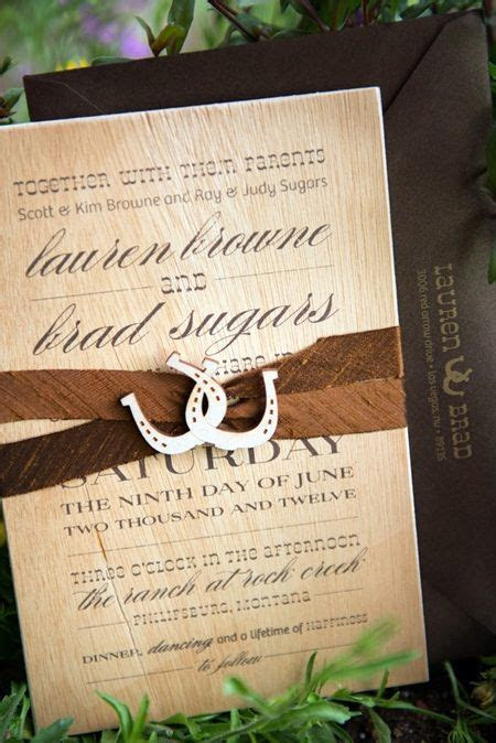 western party invitations   Romantic Summer Wedding at