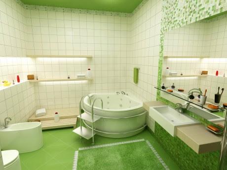 Bathroom Home Design on Contemporary Jacuzzi Bathroom   Interior Design Ideas