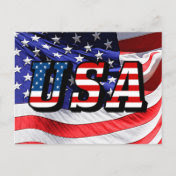 USA - American Flag Post Card