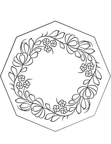 Dibujo De Caja Pintada Petrykivka Para Colorear Dibujos Para