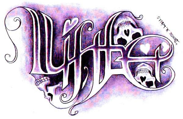 Death Life Ambigram Tattoo Design