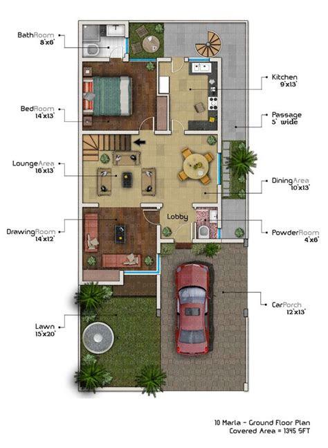 marla house plan  basement ph style basement