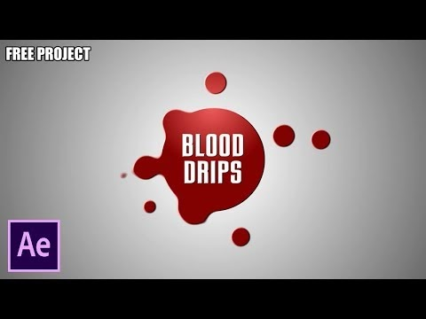 After Effects Tutorial: Blood Drips - No Plugin (Free Project)