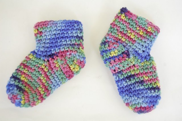 Knot By Gran Ma Blog Free Baby Booties Sock Crochet Pattern