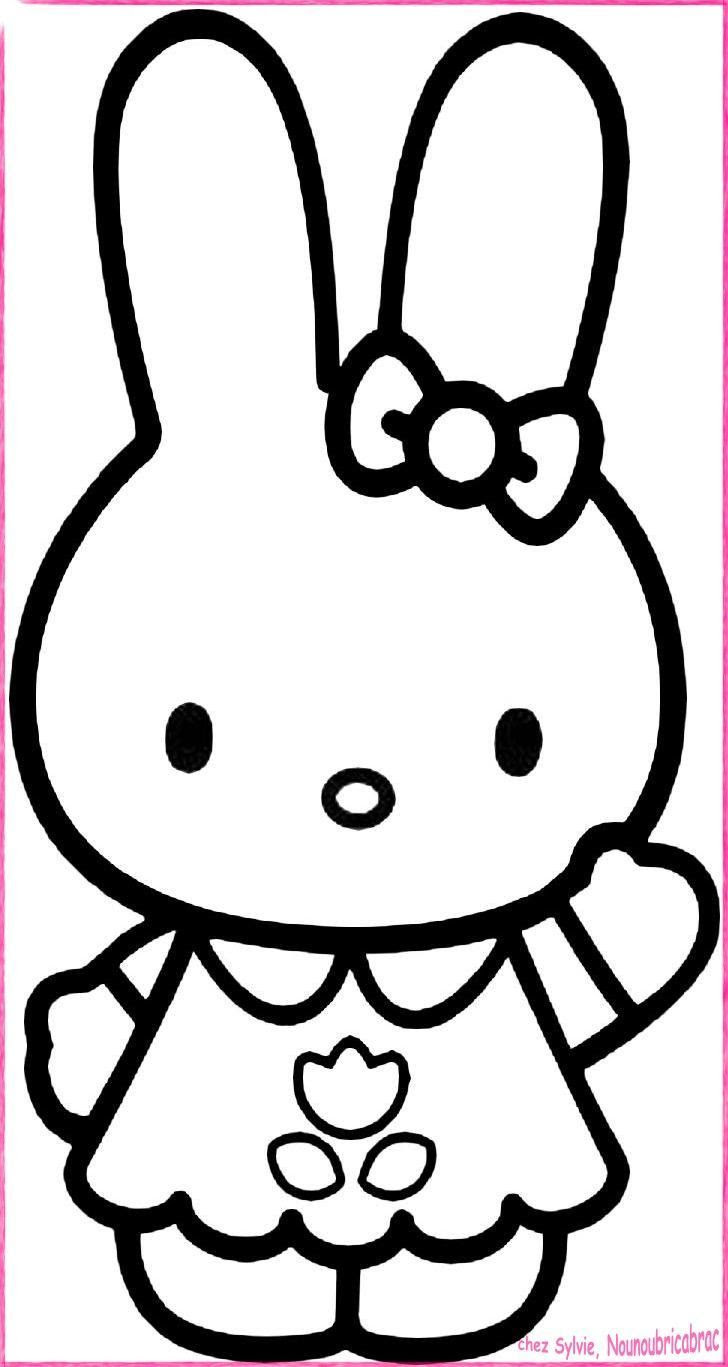 Coloriage Hello Kitty The Darkness Purple