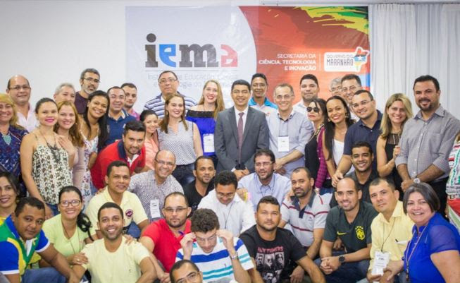 Secretário Bira do Pindaré e professores das três unidades do IEMA