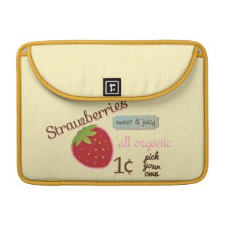 Vintage Strawberry Mac Book Sleeve rickshaw_flapsleeve
