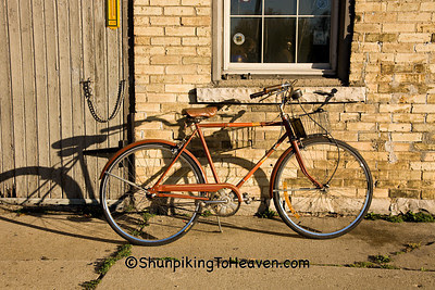 Bicycle in Front of Blacksmith Shop, Fond du Lac County, Wisconsin