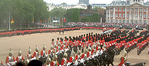 Trooping to the colours