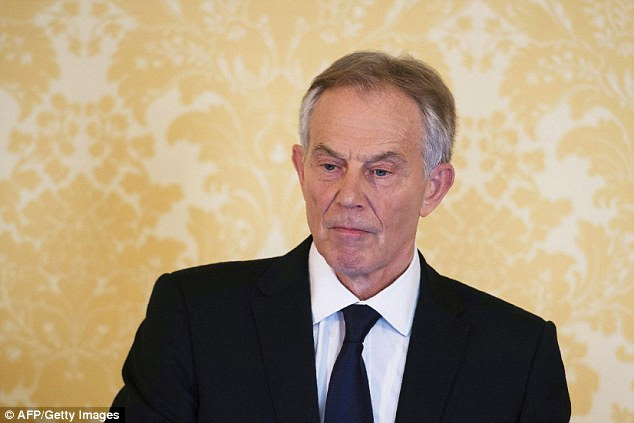 Tony Blair, pictured after he was slammed by the Chilcot Inquiry in July, announced a new Institute for politicians today that he claimed was not a return to front line politics