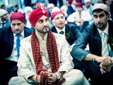 sikh man  wedding  london wearing  white suit
