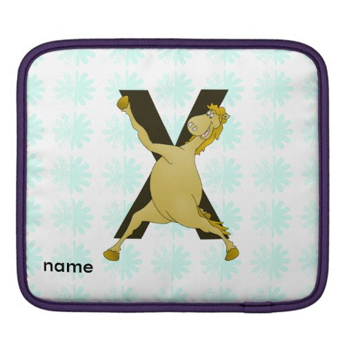 Monogram X Agile Pony Customised iPad Sleeves