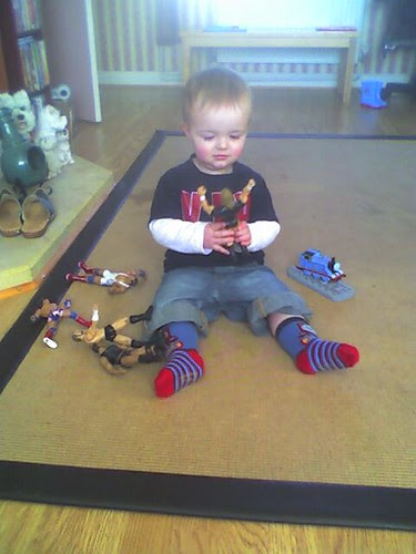 Oliver discovers WWF figures