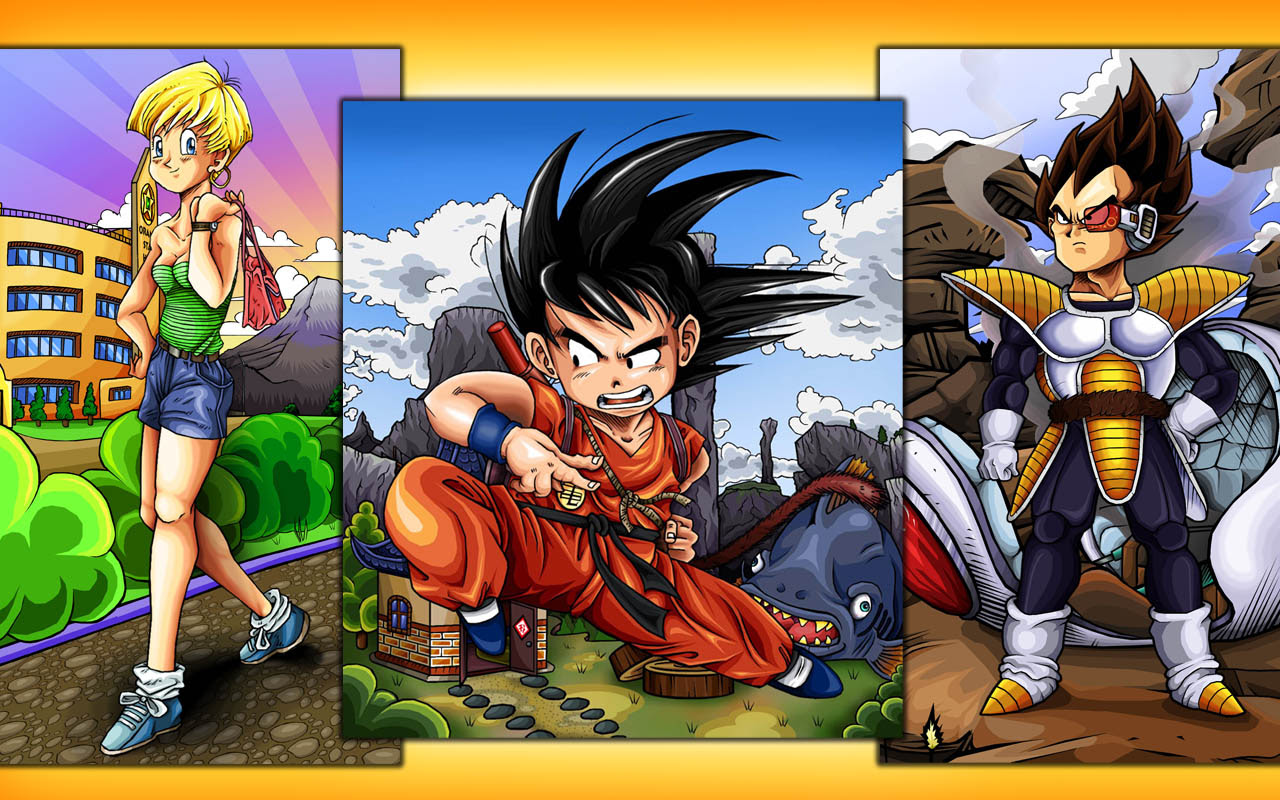 Dbz Warriors Widescreen Dragon Ball Z Wallpapers Of Goku Vegeta