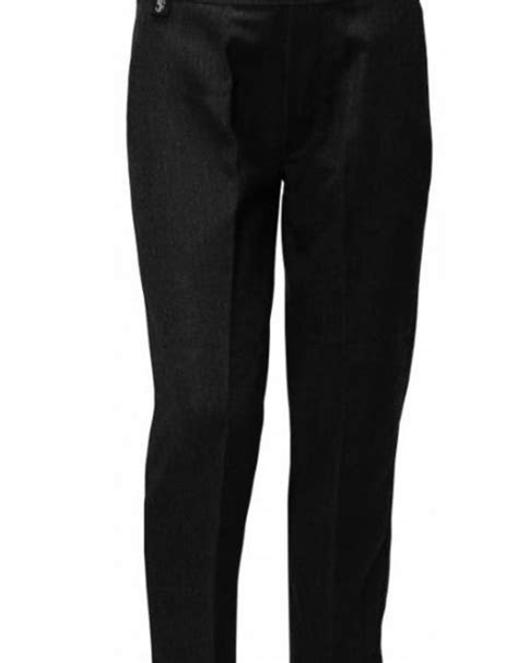 Boys Trousers Pull Up Slim Fit Black - Game Changers Guernsey