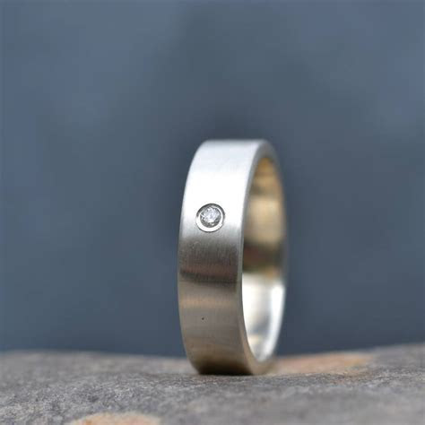 handmade men's silver engagement ring by muriel & lily