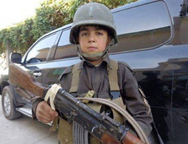 The child had fought the Taliban alongside his uncle on many occasions and pictures on on social media show him holding an automatic weapon and wearing uniform and a helmet