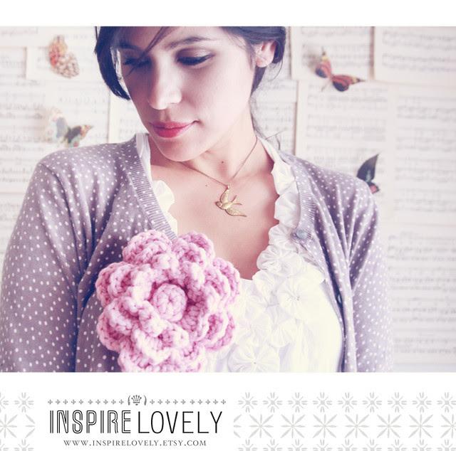 Inspire Lovely flower crochet