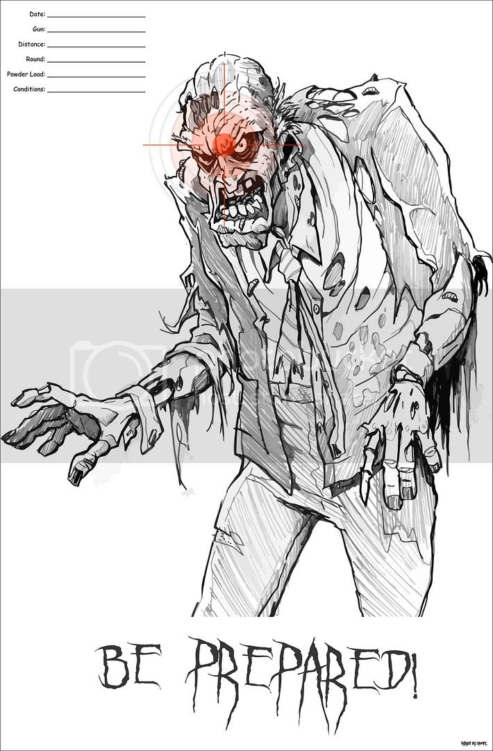 It is a picture of Comprehensive Printable Zombie Targets