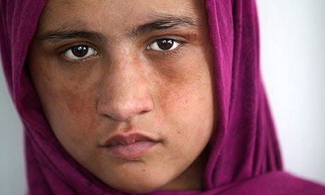 Sahar Gul, 14, at a women's shelter in Kabul.