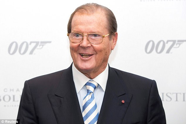 Sir Roger Moore (pictured) attends the 50 Years of James Bond Auction at Christies in London back in 2012